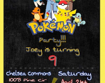 Pokemon Downloadable Digital Invitation