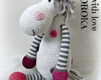 White Unicorn plush handmade crocheted upon request.