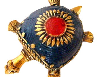 Turtle Brass (2 Color Choices) Figurine Handmade Dhokra Craft Home Decor Display Piece Sculpture Statue from Chattisgarh in Central India