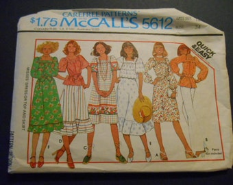 McCalls 5612, Blouse, skirt, dress,  size 12