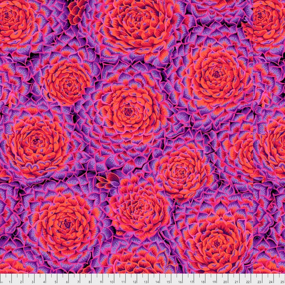 SUCCULENT RED PWPJ091  Philip Jacobs for Kaffe Fassett Collective Sold in 1/2 yard increments
