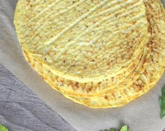 Cauliflower Tortillas   KETOGENIC   4 Net Carbs per Tortilla (QTY 6)