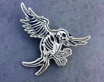 Angry Sparrow - 2 inch enamel pin