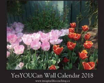 YesYOUCan Wall Calendar 2018