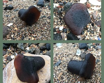 Partial Scottish Brown Sea Glass Bottle Stoppers From Scotland - Seaglass