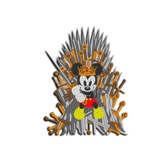 Mickey Mouse Embroidery Design Iron Throne Machine Embroidery