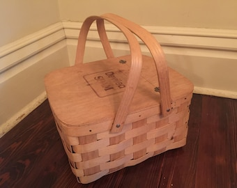 Deviled Spam Picnic Basket/Vintage Spam