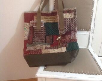 Big tote bag boro Japanese style