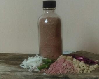 Cleansing Grains/Normal skin/Rhassoul Clay/Australian Pink Clay/Rosehip/Organic Coconut Milk/Apple Powder/Honey Powder/Aloe/Organic Almonds