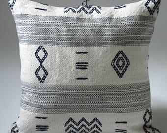 Rowling & Dixon // Blue Mudcloth Pillow // Dark Blue Pillow // Decorative Blue Throw Pillows