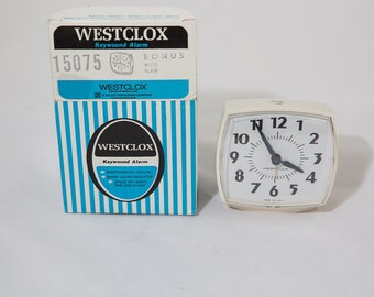 Vintage Westclox Keywound Alarm Clock In Box