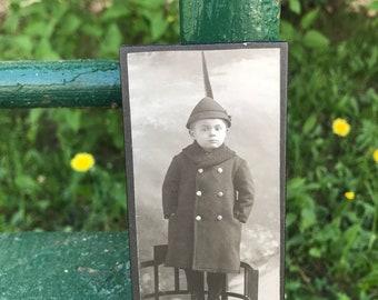 Vintage Photo -  Adele Photo Studio Leitmeritz (Litomerice): Cabinet Card of a Boy