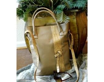 Cream Vegan Leather Tote Bag, Faux Leather Tote Bag, Cream Tote Bag, Vegan Leather Handbag, Faux Leather Handbag, Gift For Her, Shoulder Bag