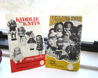 Mary Maxim Kiddlie Knits Knitting and Crocheting Patterns