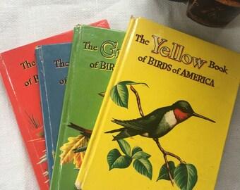 Scarce Set of 4 Birds of America 1954 Asbrook Whitman