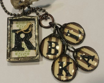 Family Necklace Mother's Day Gift Charms Initials please read all of the details on ordering