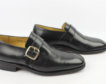 VINTAGE moccasins Goodyear LOUIS BOSTON Uk 8.5 black leather / Fr 42.5 very good condition (3206)