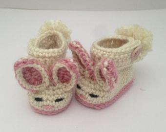 Baby easter gift etsy baby bunny booties baby easter gift baby bunny boots bunny booties negle Choice Image