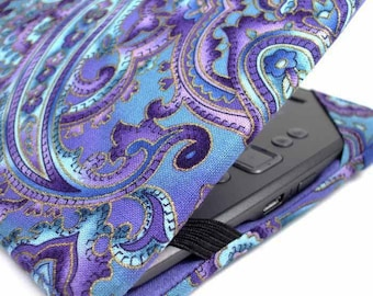Kindle Cover - made to order Purple Paisley - Kindle Voyage, Paperwhite, Touch, Oasis 2 - Nook Tab 4, kobo touch eReader cover case