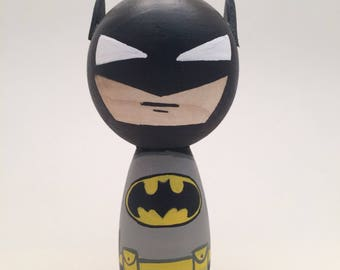 Batman Peg Doll Kokeshi