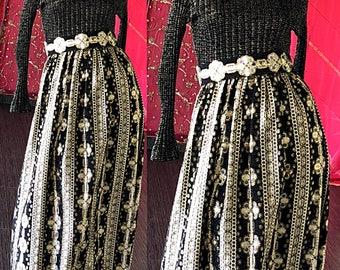 Neusteters Gold Lame Dress 70s Metallic Brocade Evening Gown