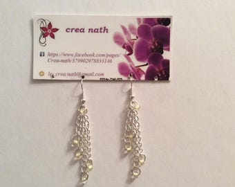 earring type chain and clear bead