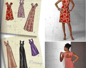 Simplicity 0251 Designer's Inspiration Day Or Evening Halter DRESS Sewing Pattern UNCUT Plus Size 20, 22, 24, 26, 28