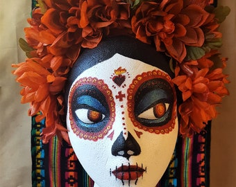 Dia de los Muertos Flower Crown - Dark Orange