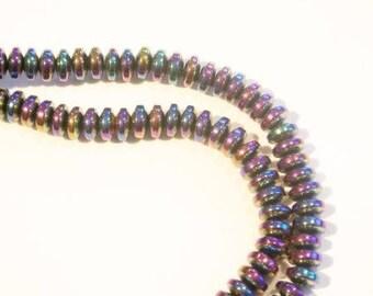 Mini beads multicolor tinted metal around the edge