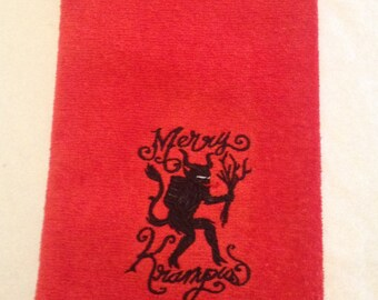 Krampus Bathroom Hand Towel