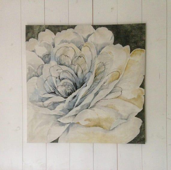 Weiße Blume die alle Aquarell gemalt. Blumenbild. Große rosa