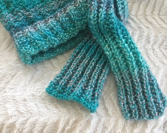 child's hat and scarf set