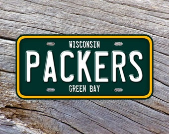 Green Bay Packers Football NFL License Plate Vanity Auto Tag