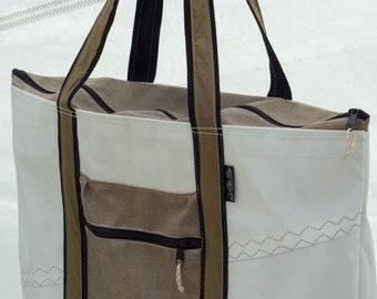 Terrapin Beach Bag, Big Bag, Sailcloth Tote, Recycled Sail, Canvas sail bags, sail cloth bag