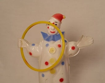 Clown Cake Topper/ Vintage Circus Clown/ Pastel Clown with Hoop