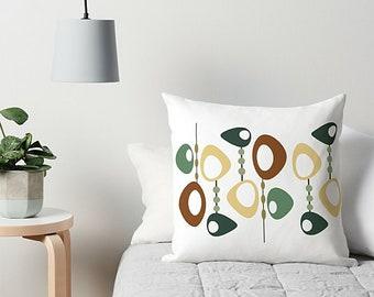 Retro Pillow, Abstract Pillow, Art Pillow, Couch Pillow, Accent Pillow, Throw Pillow, Mid Century Modern, Art Cushion, Sofa Pillow