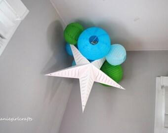 Customizable MINI Paper Lantern Cluster Mobile