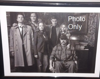 Supernatural Family Photo print Dean and Sam Winchester Castiel Bobby Jo Ellen (photo only)