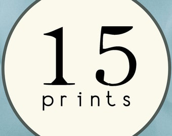 15 PRINTS - SINGLE SIDED Printed Invitations Cards - 86439999