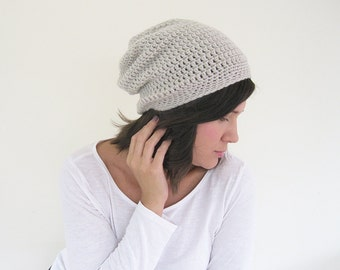 Winter Slouchy Beanie | Slouchy Knit Hat | Spring Beanie | Oversized Hat | Womens Winter Hat | Crochet Hat