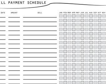 printable bill sheet