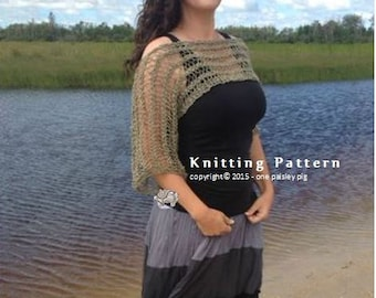 Sonoma Sunset Knit Shrug / Cropped Sweater - PDF KNITTING PATTERN