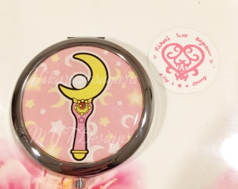 Cresent Moon Wand Compact Mirror