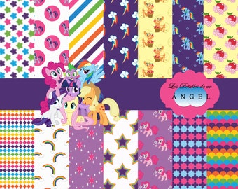 Digital Paper kit for my Little Pony/kit digital paper for My Little Pony Party