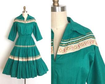 vintage 1950s dress | 50s cotton patio dress