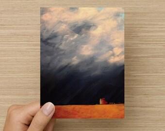 "Folded Note Card ""Sentinels"""