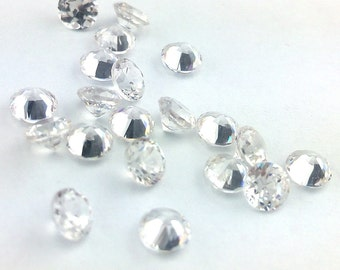 Natural Zircon AAA Quality loose Gemstone 4 mm Faceted Round Clear