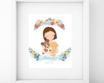 Custom Portrait/Best Friend Gift/Best Friend Portrait/Best Friends/Friends Gift/Friendship Gifts/Digital Portrait