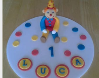 edible clown cake topper *personalised*