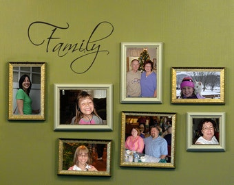 Family Wall Decal - Family Wall Art - Picture Wall Decor - Small